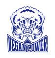 logo vegan vector image vector image