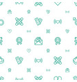 love icons pattern seamless white background vector image vector image