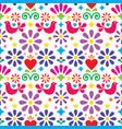 mexican folk art seamless pattern vector image vector image