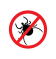 Mite warning sign vector image vector image