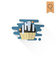 muffin modern flat icon vector image vector image