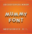 mummy bandage font halloween sans serif typeface vector image vector image