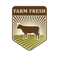 Nature fields retro farm label organic food vector image vector image