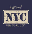 new york city typography for design clothes vector image