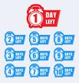 number days left badge for sale or promotion vector image