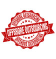 offshore outsourcing stamp sign seal vector image vector image
