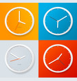 realistic detailed 3d clock template on a color vector image vector image