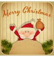 Retro Merry Christmas vector image vector image