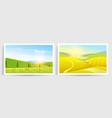 rural landscape farm agriculture vector image vector image