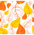 seamless autumn background botanical vector image