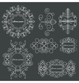 Set logos elegant ornament lines on a black vector image vector image