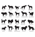 set of dogs silhouettes-4 vector image vector image