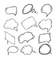 set of handdrawn doodle boobles for your text vector image vector image