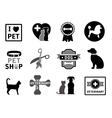 set of veterinary concept icons vector image vector image