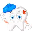 Sick tooth cartoon vector image vector image