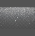 silver glitter sparkle on a transparent vector image vector image