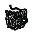Small intestine black icon vector image vector image