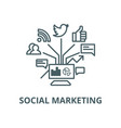 social marketing line icon linear concept vector image vector image