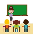 teacher classroom design vector image vector image