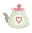 teapot beverage cooking vector image vector image