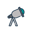telescope observation science astronomy and space vector image