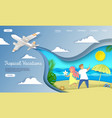 tropical vacations website landing page vector image vector image