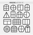 various simple windows vector image vector image