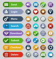 web design buttons set vector image vector image