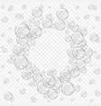white water bubbles on transparent background vector image vector image