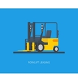 yellow forklift vector image vector image