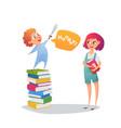 children read fairy tales with pleasure vector image