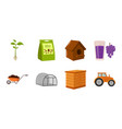 farm and gardening icons in set collection for vector image