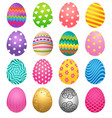 set of colorful eggs for easter day vector image