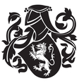 heraldic silhouette No18 vector image