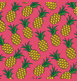 pink background with pattern of pineapple fruits vector image
