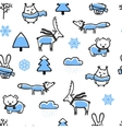Seamless pattern with doodle winter vector image