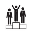 symbol businessman success vector image