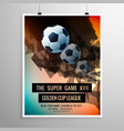 abstract football soccer game flyer template vector image vector image