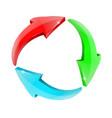 arrows in circular motion set colored arrow vector image