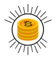bitcoin money electronic icon vector image