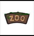 board zoo in cartoon style animals park vector image vector image