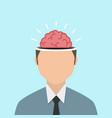 businessman brain storm concept vector image