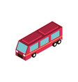 camper transport vehicle isometric icon vector image vector image