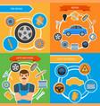 car repair mechanics services infographics vector image vector image