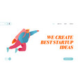 career boost business start up and growth website vector image