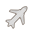 cartoon airplane travel business vacation vector image vector image