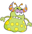 Cartoon Angry alien vector image vector image