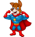 Cartoon superhero dog posing isolated vector image vector image