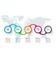circle label infographic with 5 steps vector image vector image