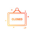 closed board icon design vector image